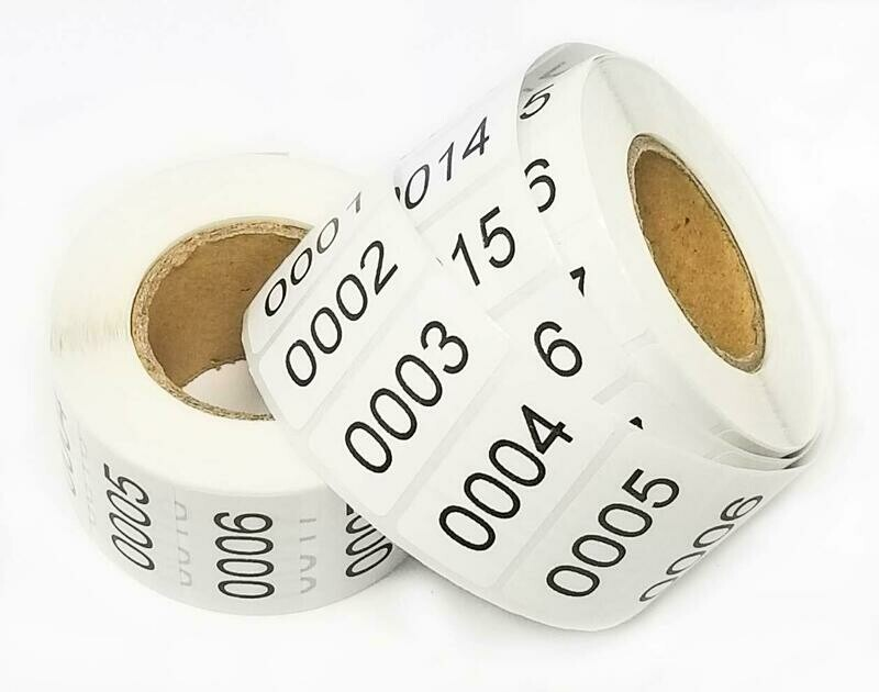 Tag-A-Room Inventory Labels Consecutive Number Stickers (2 Rolls)
