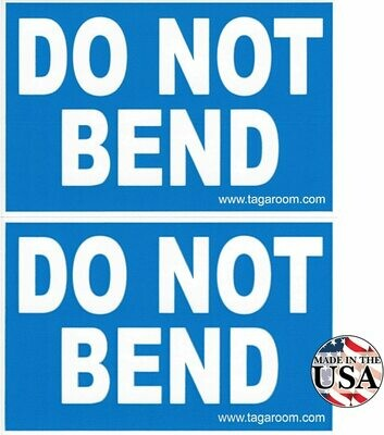 Do Not Bend- 50 Count