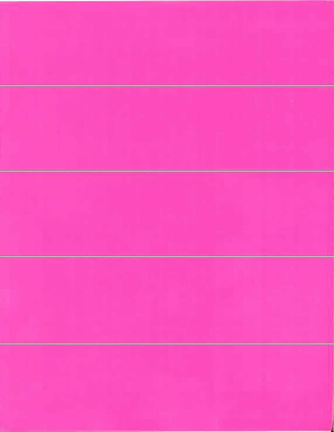 File Folder Labels: Pink - 50 Count