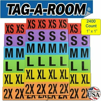 Clothing Labels - 2400 Multi Pack