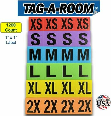 Clothing Labels - 1200 Multi Pack