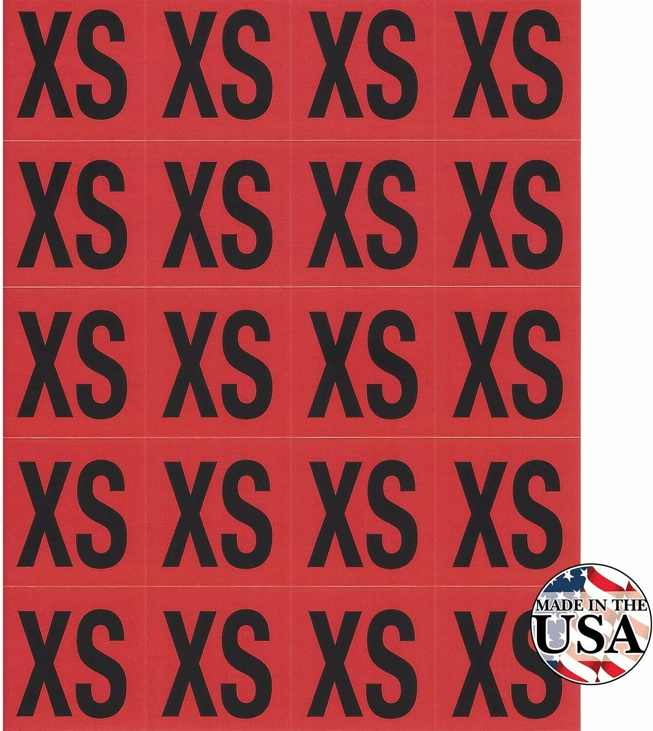 XS Clothing Labels - 200 Count