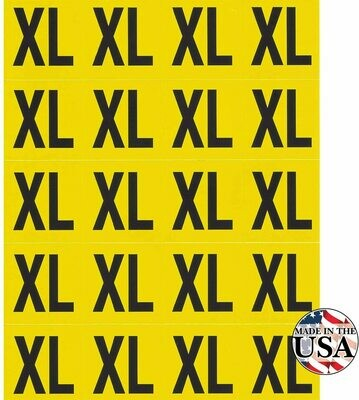XL Clothing Labels - 200 Count