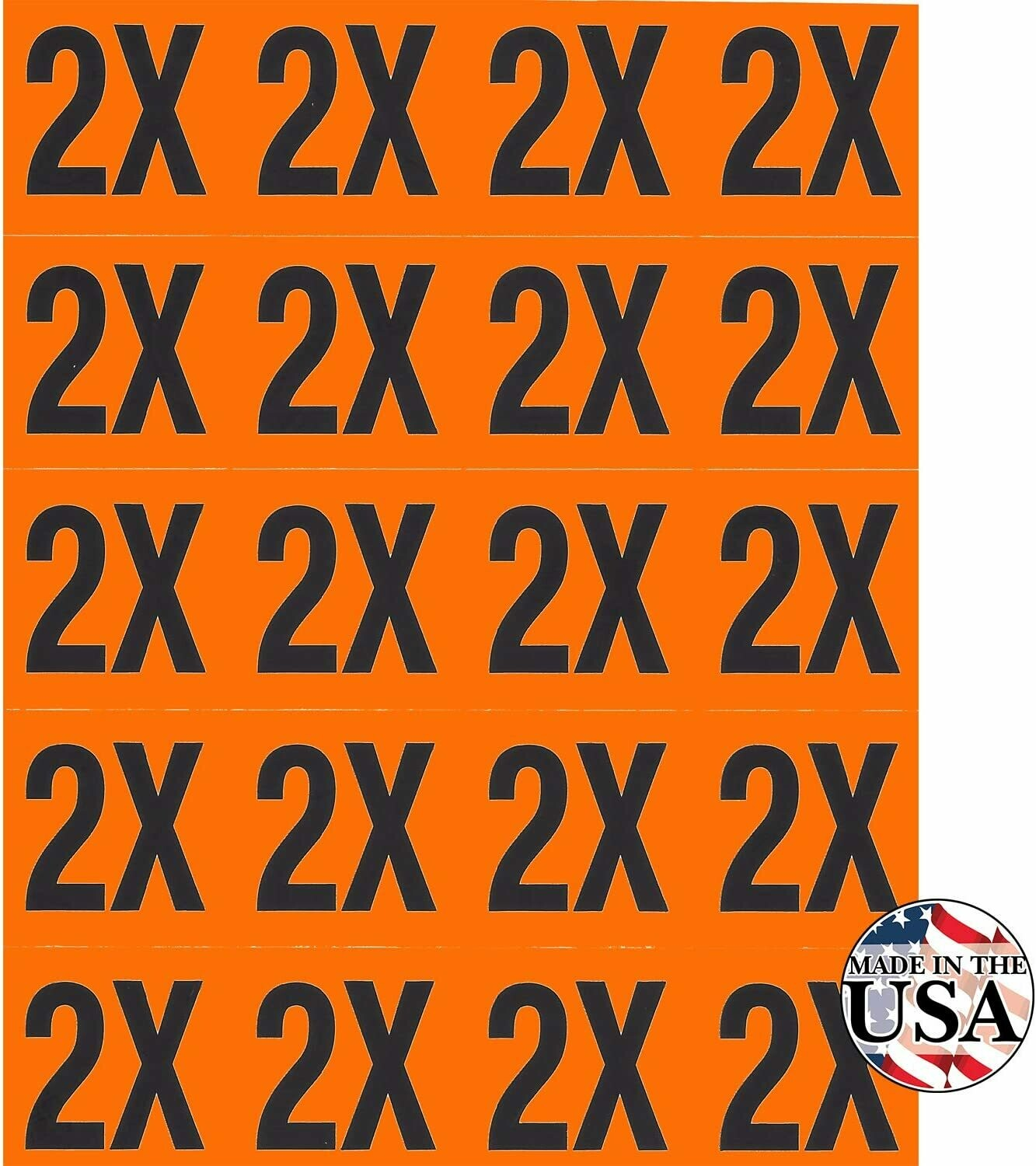 2X Clothing Labels - 200 Count