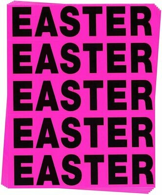 Easter Color Coded Moving Labels (50 Count)