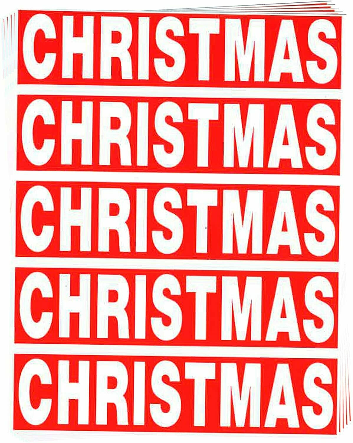 Christmas Color Coded Moving Labels (50 Count)