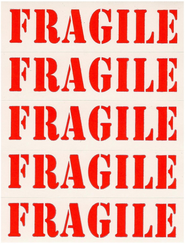 Fragile Labels - 50 Count