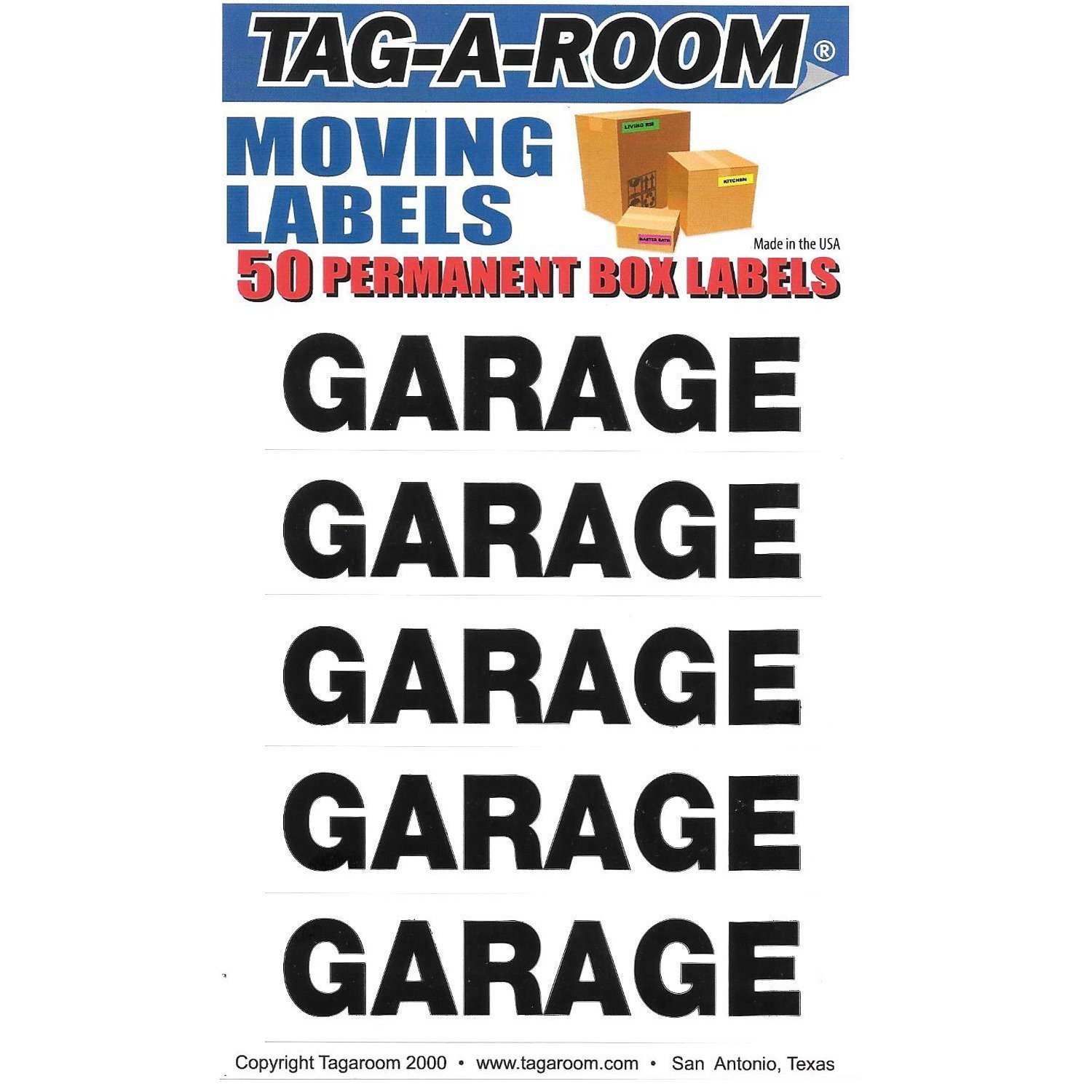 Garage Labels - 50 Count