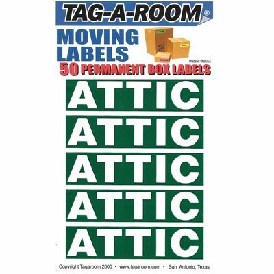 Attic Color Coded Moving Labels (50 Count)