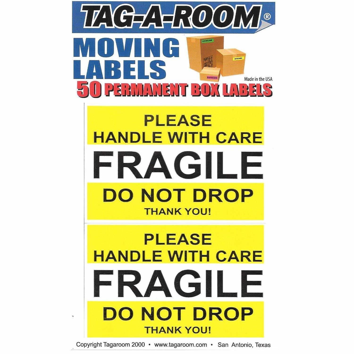 Fragile (Yellow) : Please Handle With Care - 50 Count
