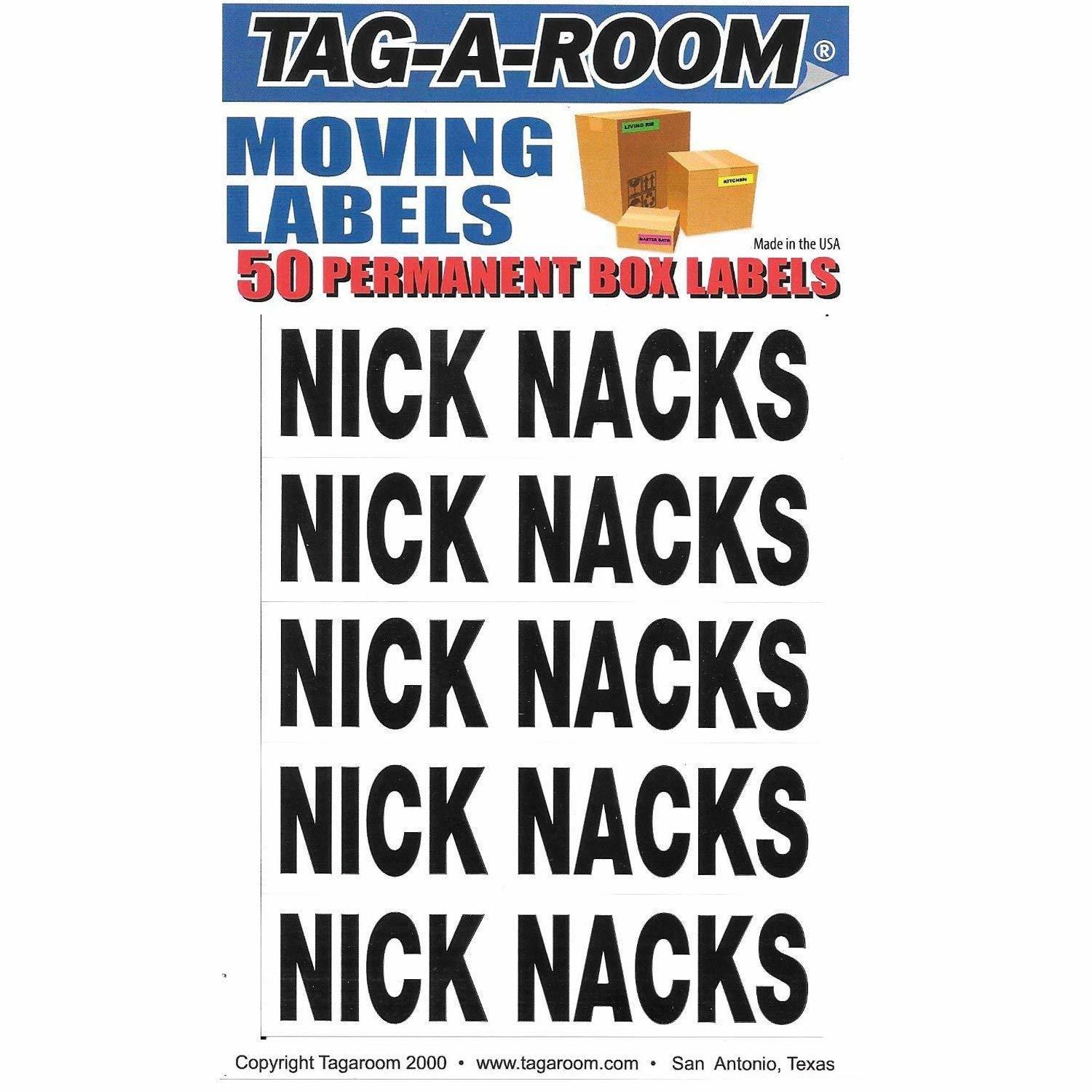 Box Content Moving Label (Nick Nacks)