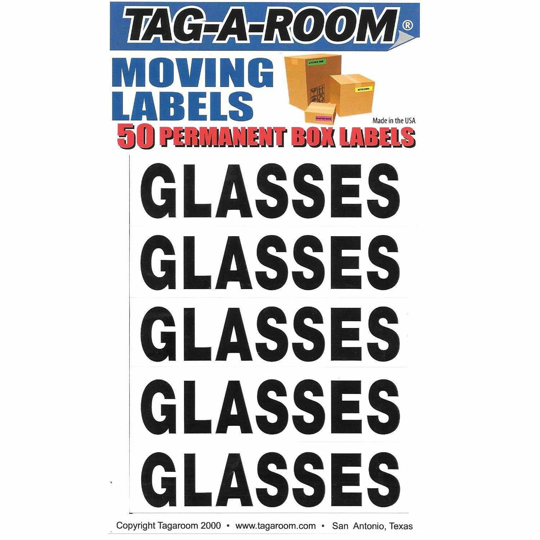 Box Content Moving Label (Glasses)