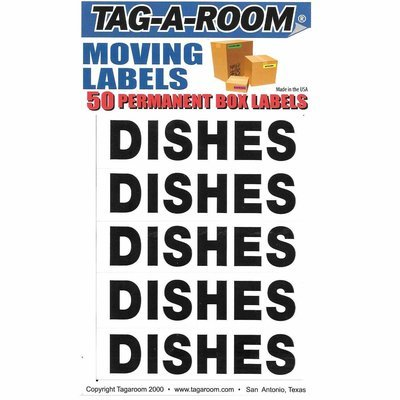 Box Content Moving Label (Dishes)
