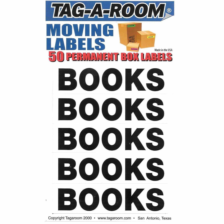 Box Content Moving Label (Books)
