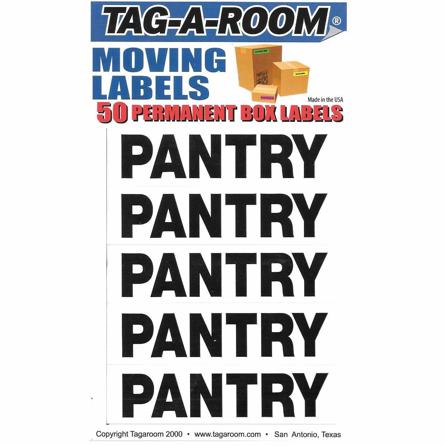 Box Content Moving Label (Pantry)
