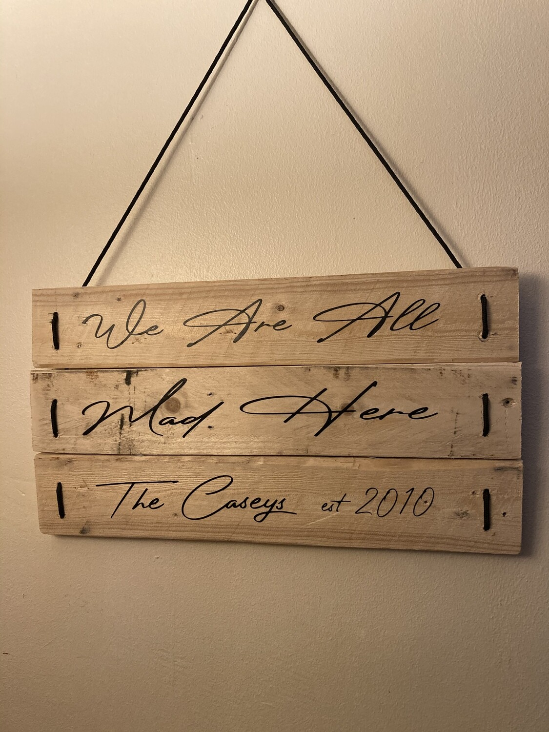 Personalised Pallet Signs