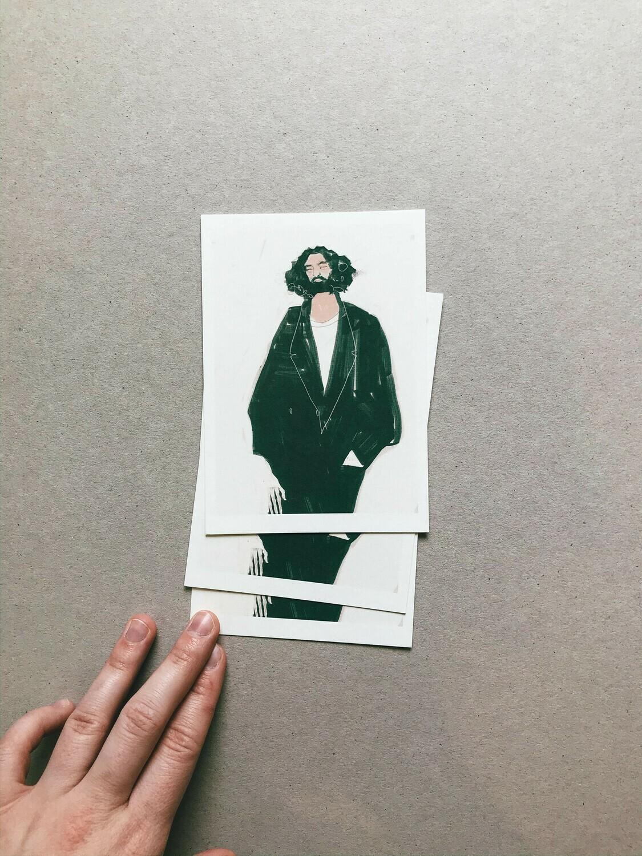 Bubble Beard | Postcard