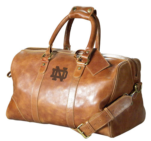 Notre Dame Leather Duffel