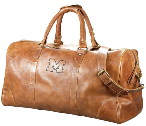 MI Large Leather Duffel