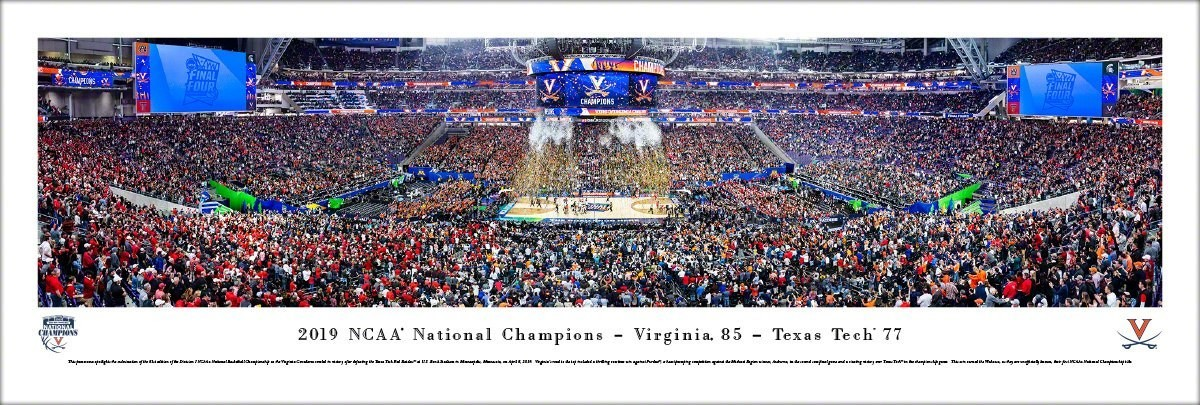 UVA 2019 NCAA National Championship Celebration Panoramic Print