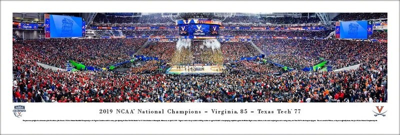 UVA 2019 NCAA National Championship Celebration Panoramic Print