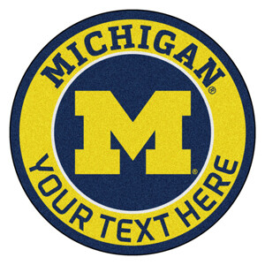 Michigan Personalized Roundel Mat
