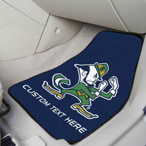 Notre Dame Personalized 2-Pc Carpet Auto Mat Set