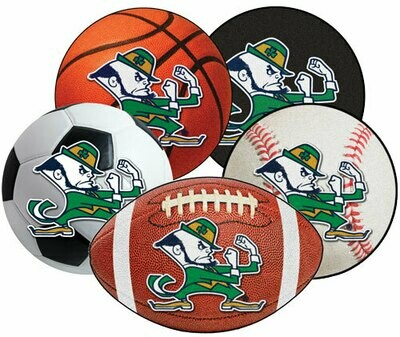 ND Leprechaun Sports Ball Rugs