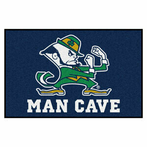 Notre Dame Man Cave Leprechaun Rug/Mat: 4 Sizes Available!