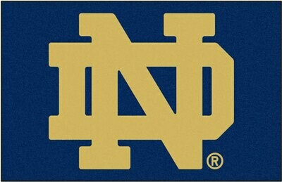 Notre Dame ND Rug/Mat: 4 Sizes Available!