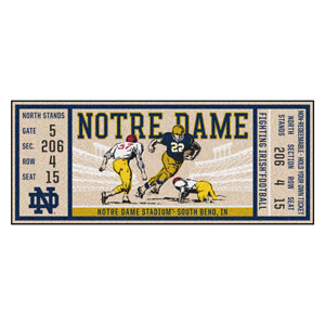 Notre Dame Ticket Runner Mat