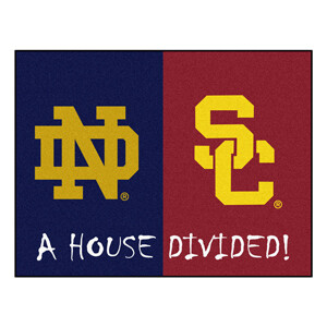 Notre Dame-USC House Divided Rug