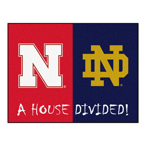 Notre Dame-Nebraska House Divided Rug