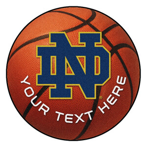 ND Personalized Basketball Rug