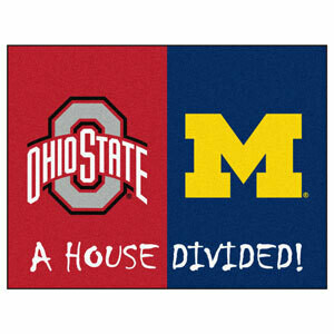 Michigan-Ohio State House Divided Rug