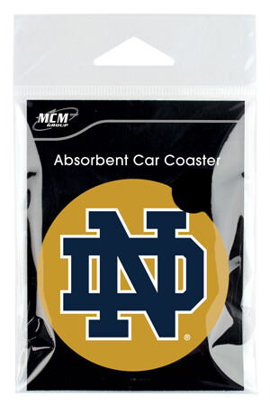 Notre Dame Absorbent Stone Car Coaster (Set of 2)