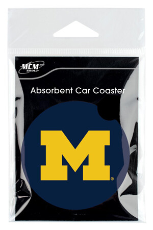 Michigan Absorbent Stone Car Coaster (Set of 2)