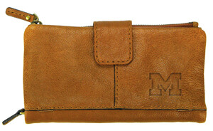 Michigan Leather Snap Clutch Wallet