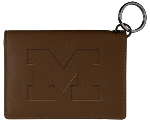 MI Leather Snap ID Holder