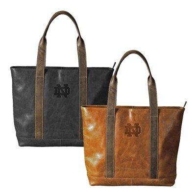 ND Leather Two-Tone Tote