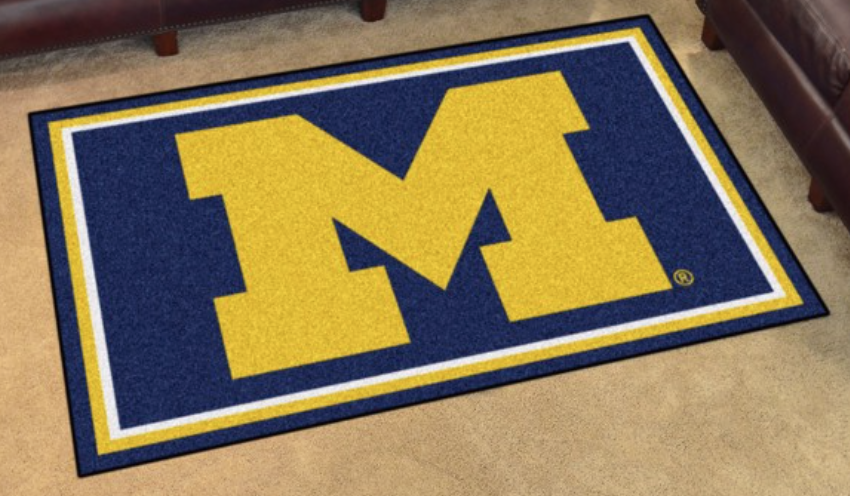 Michigan Wolverine Plush Area Rug (2 sizes available!)