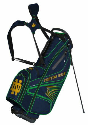 Notre Dame Grid Iron III Golf Bag Stand Bag