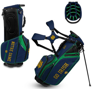 Notre Dame Golf Bag Irish Caddie Carry Hybrid Stand Bag