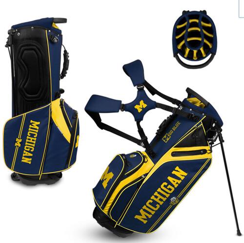 Michigan Golf Bag College Vault Caddie Carry Stand Bag