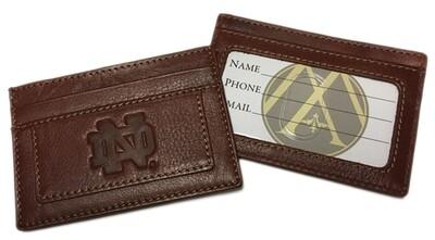 Notre Dame Leather Card Holder