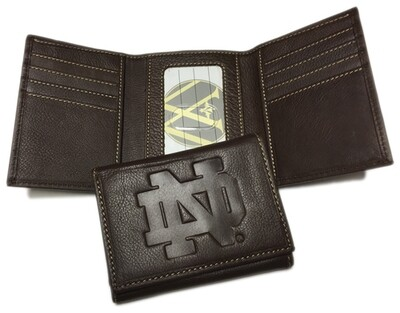 Notre Dame Leather TriFold Wallet