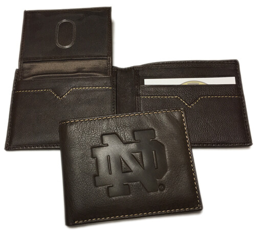 Notre Dame Leather BiFold Wallet