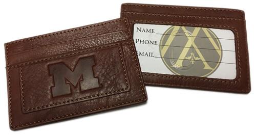 Michigan Leather Card Holder