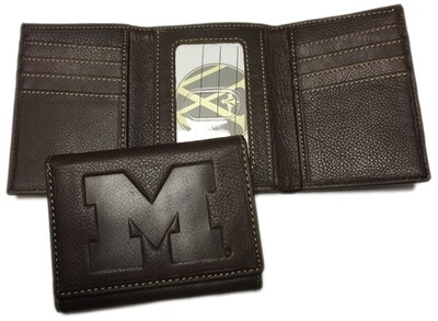 Michigan Leather TriFold Wallet