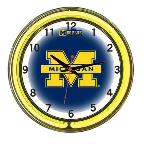 Michigan Neon Clock